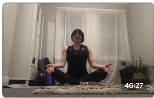 Yoga live from isolation with Samantha !